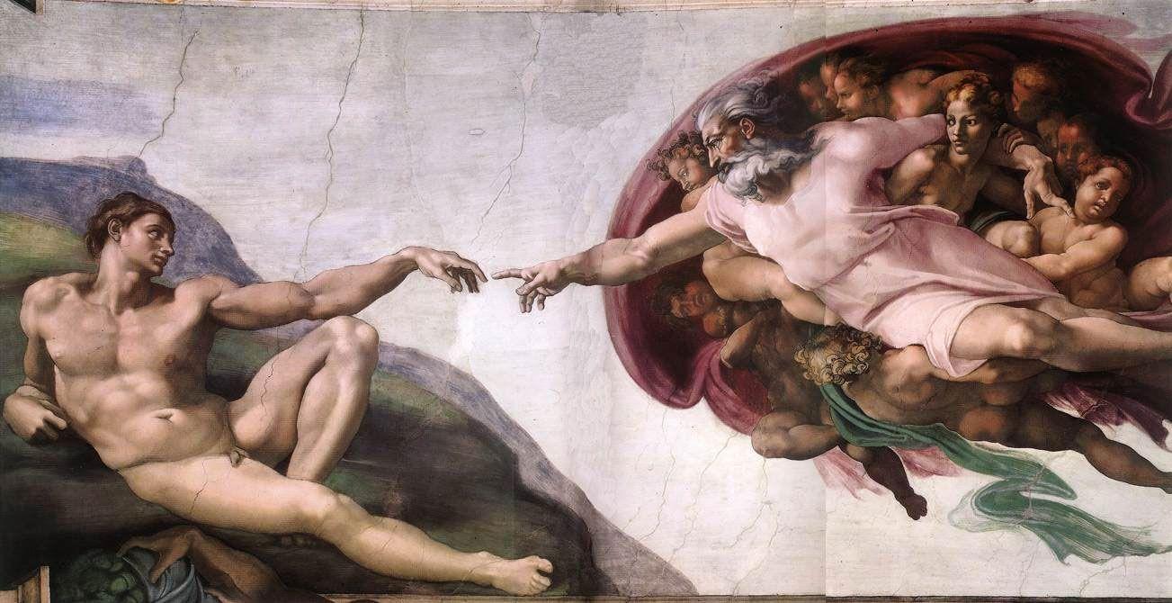 Miguel-Ángel-la-Sixtina-la-Creación-de-Adán