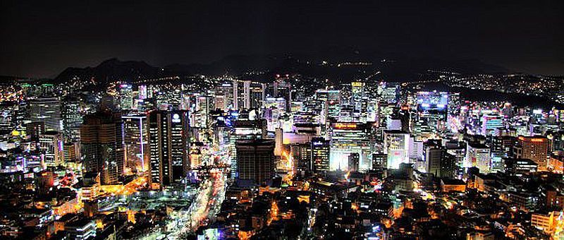 _Seoul_Tower_at_night